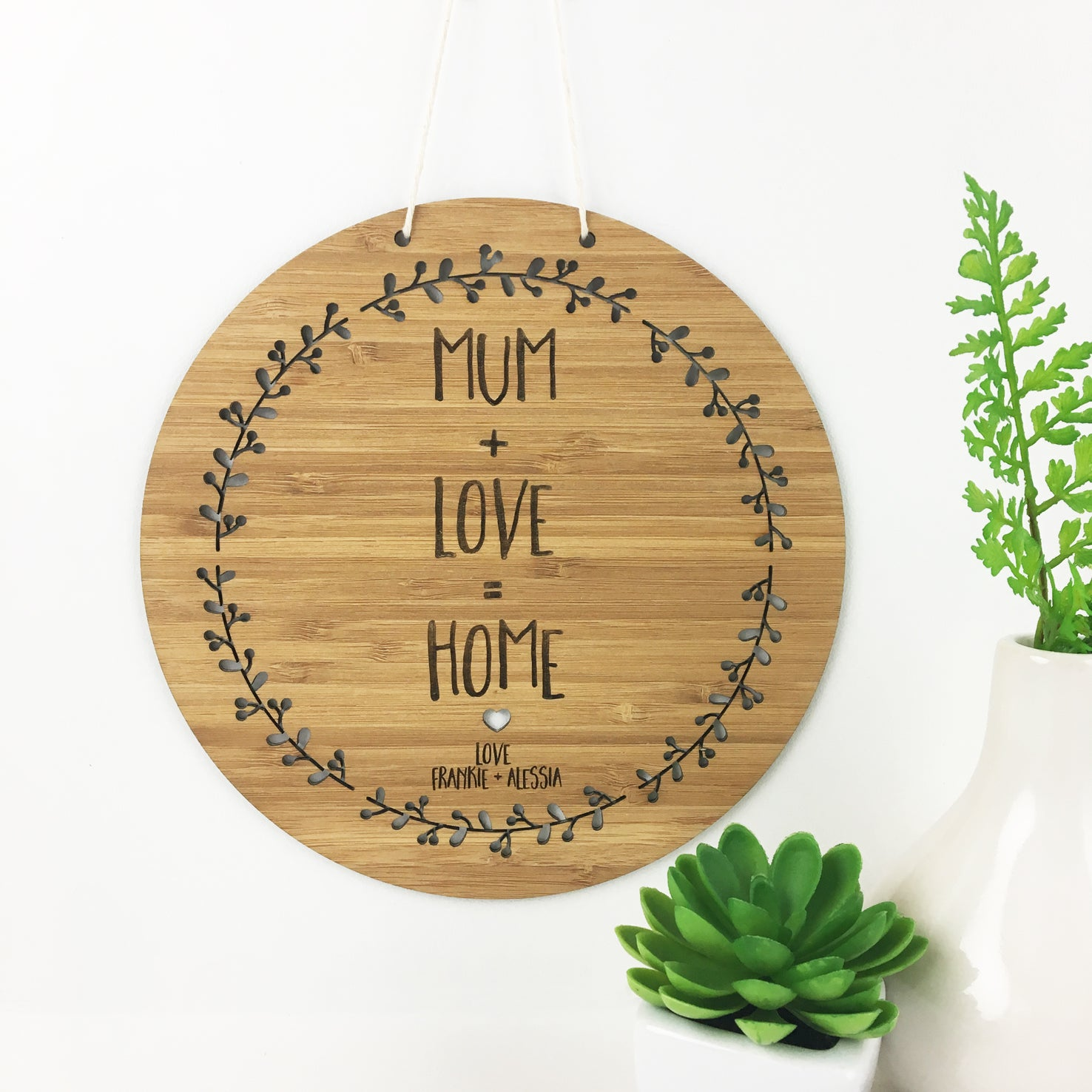Mum + Home + Love Wall Hanging