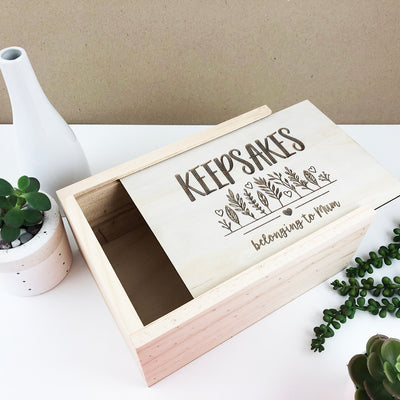 Personalised Mum's Keepsake Box