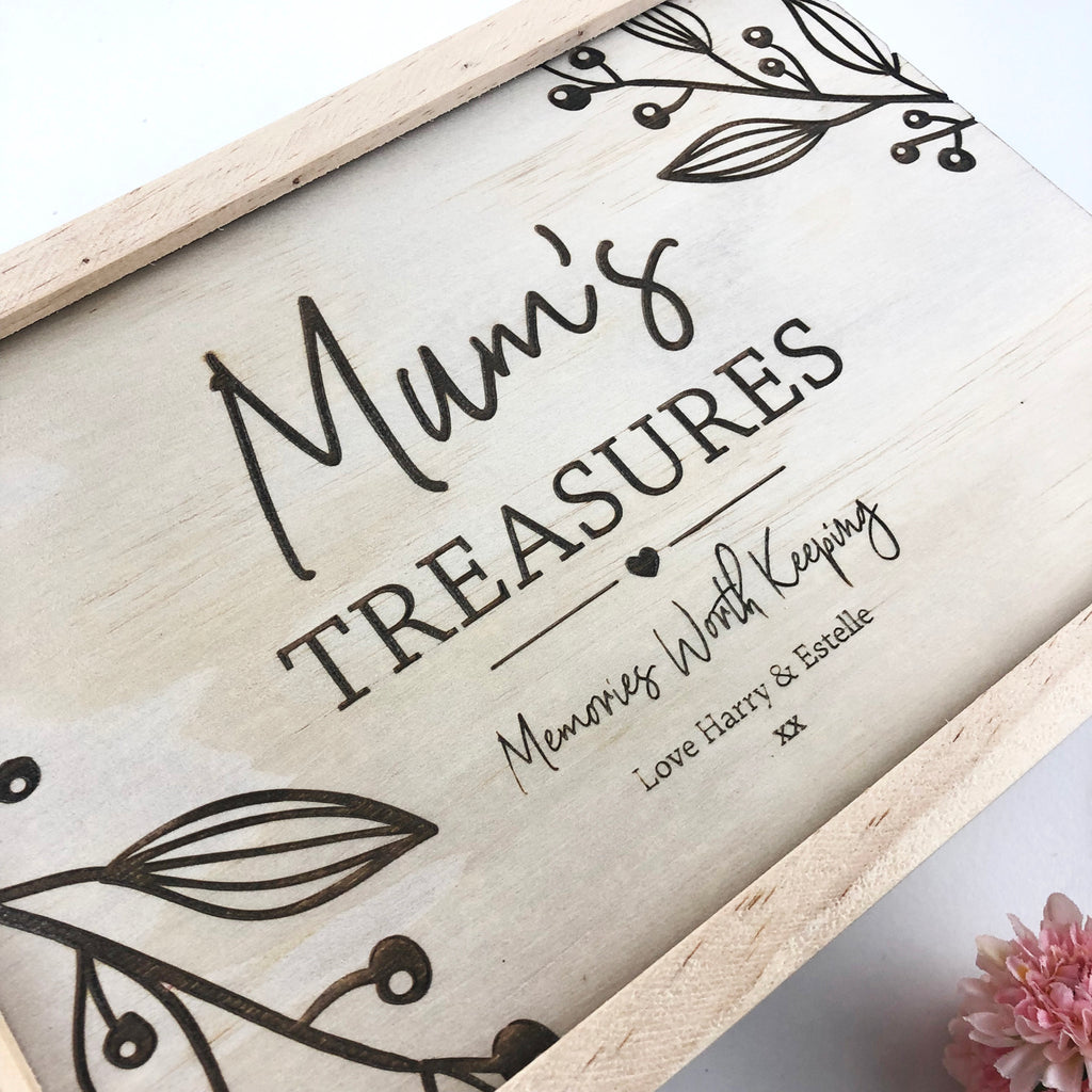 NEW Personalised Treasures Keepsake Box