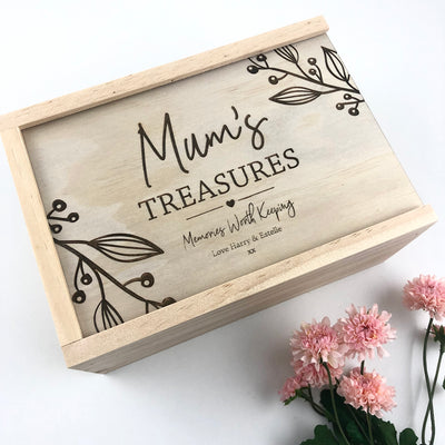 Personalised Treasures Keepsake Box