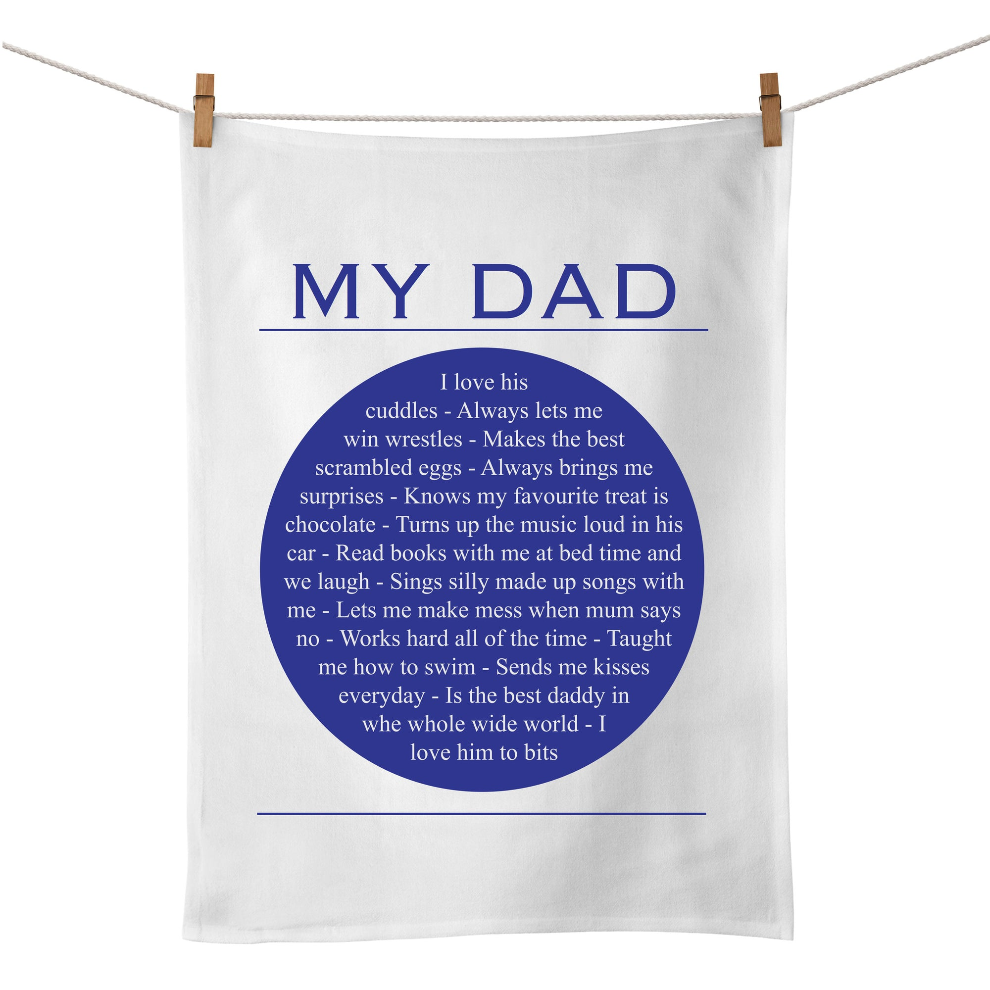 My Dad Tea Towel