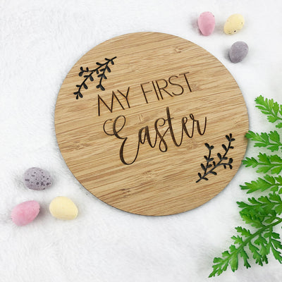 My First Easter Bamboo Plaque