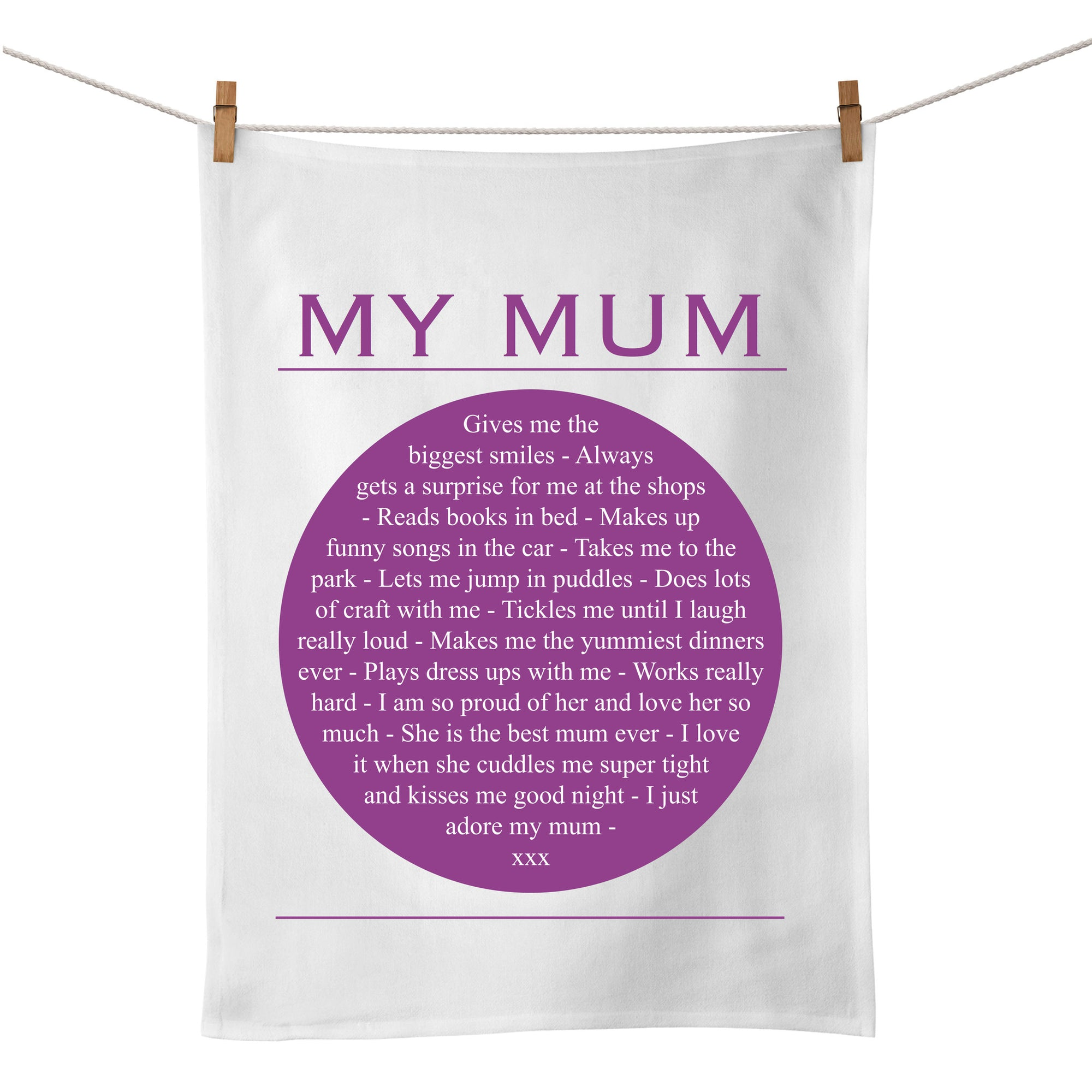My Mum Tea Towel