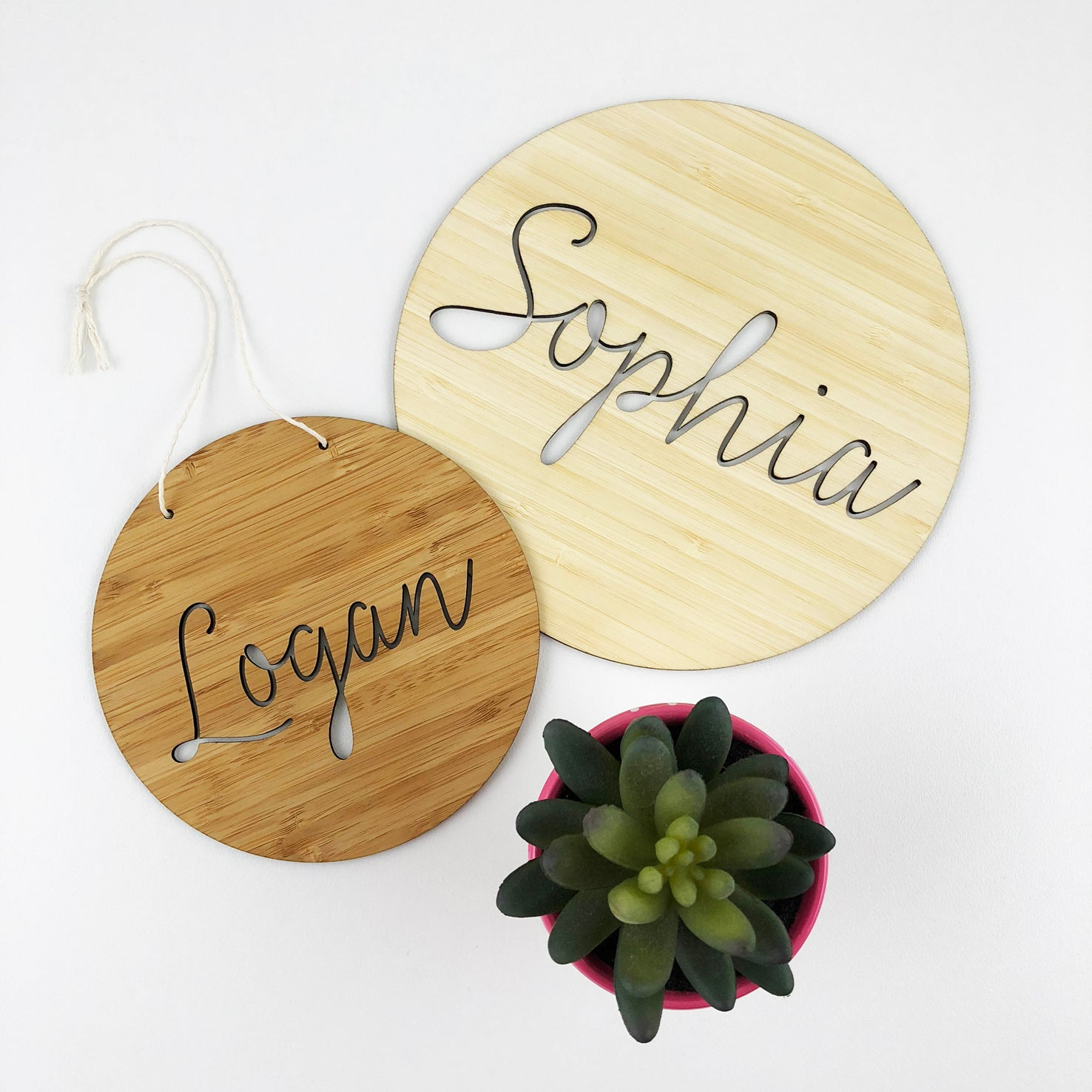 Open Script Name Wall Plaque (2 sizes)