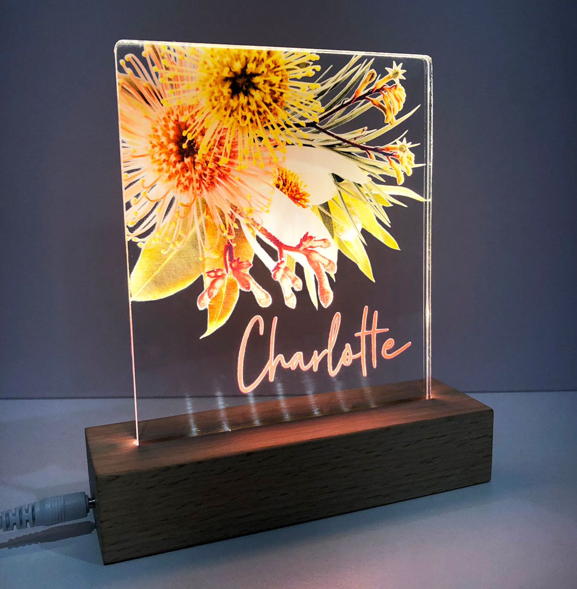Native Blooms Personalised Night Light