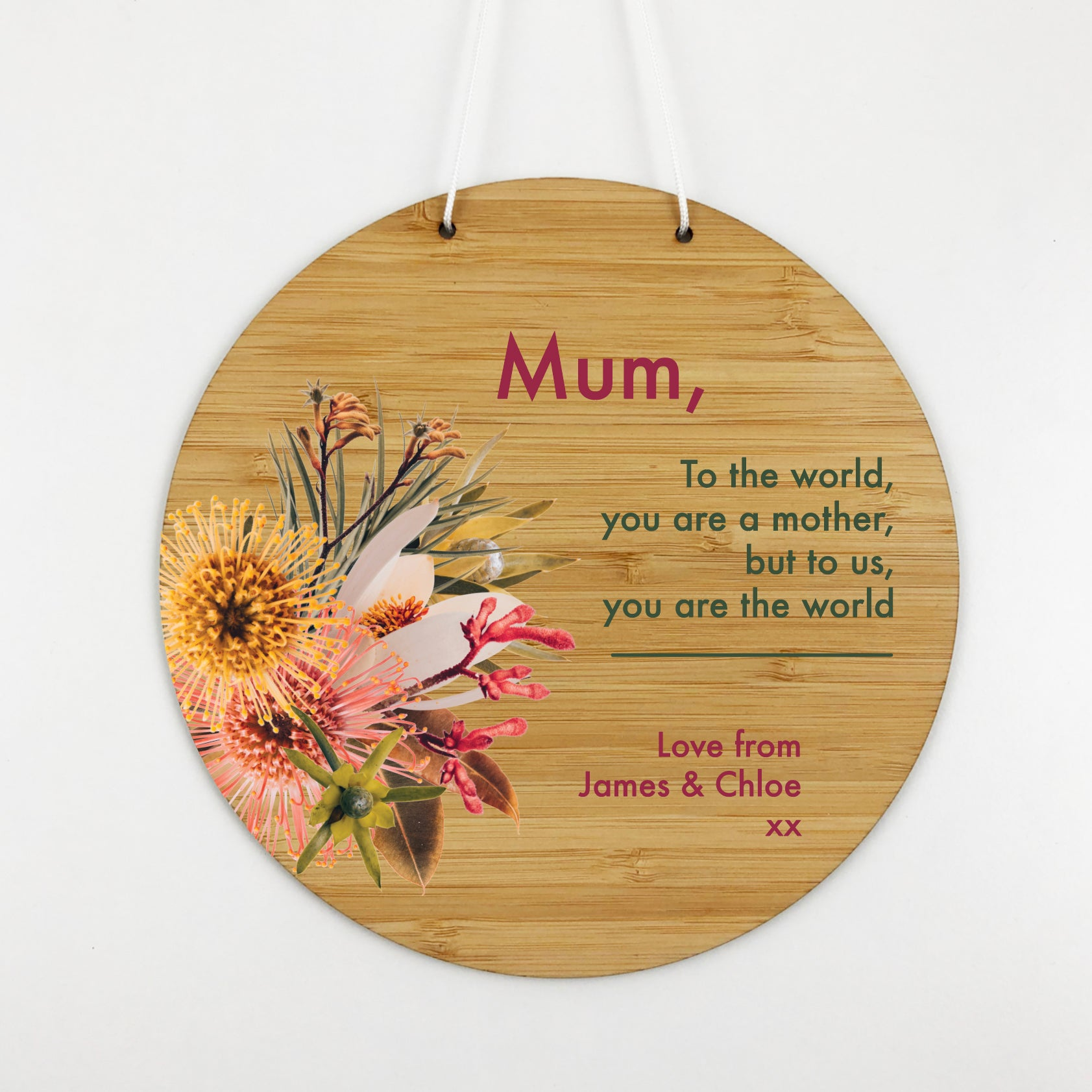 Native Stems Personalised Wall Hanging
