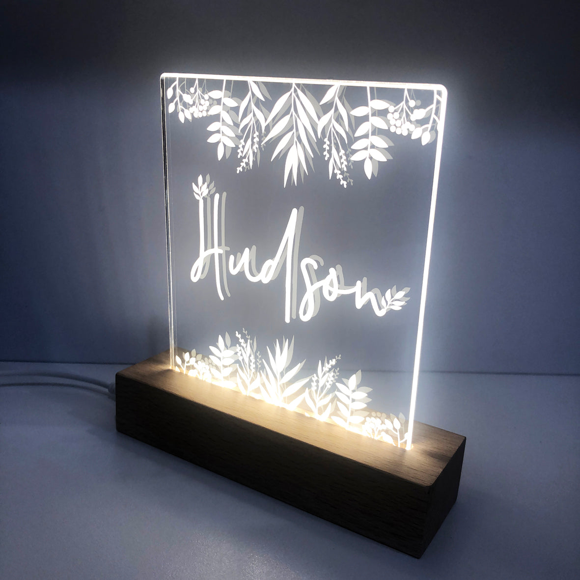 Nature Personalised Night Light