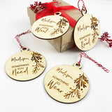 Bamboo Read Need Wear Want - Set of 4 Personalised Gift Tags