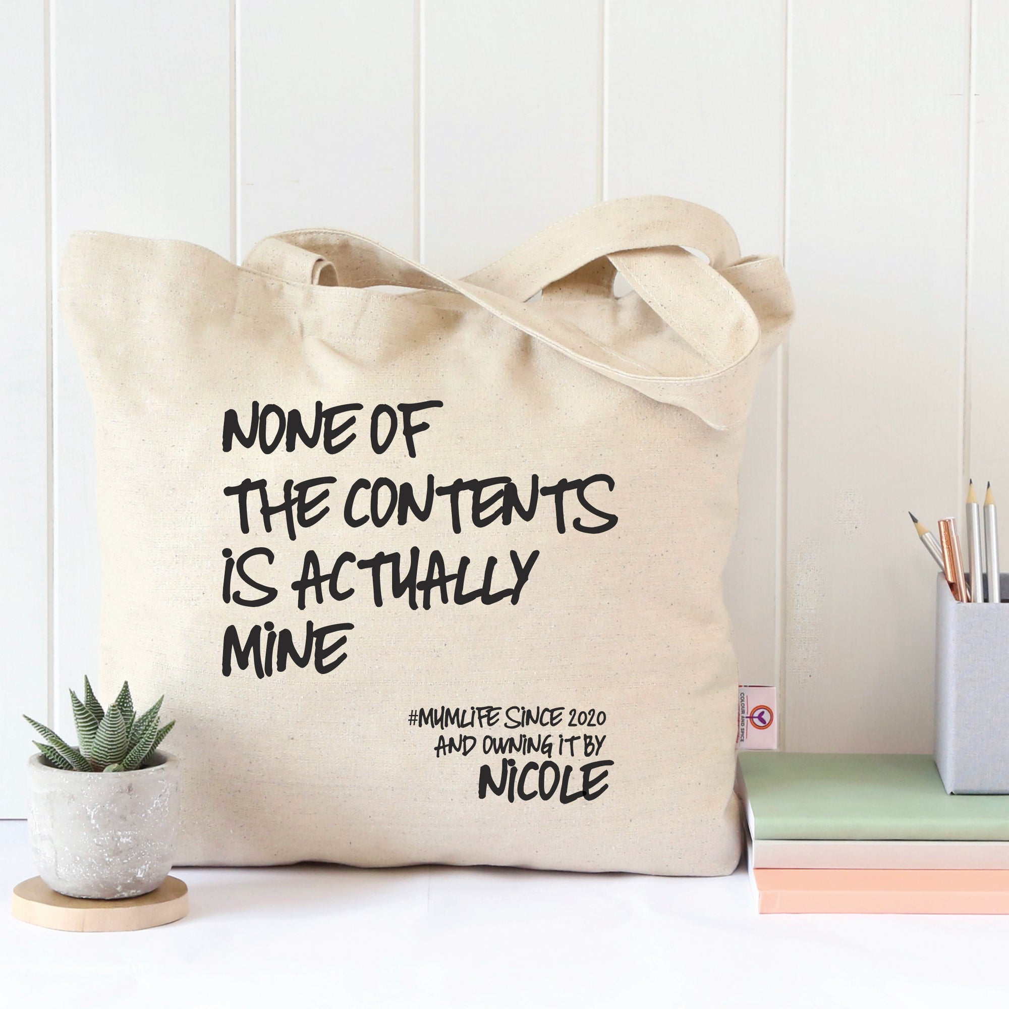 None Of The Contents Tote Bag