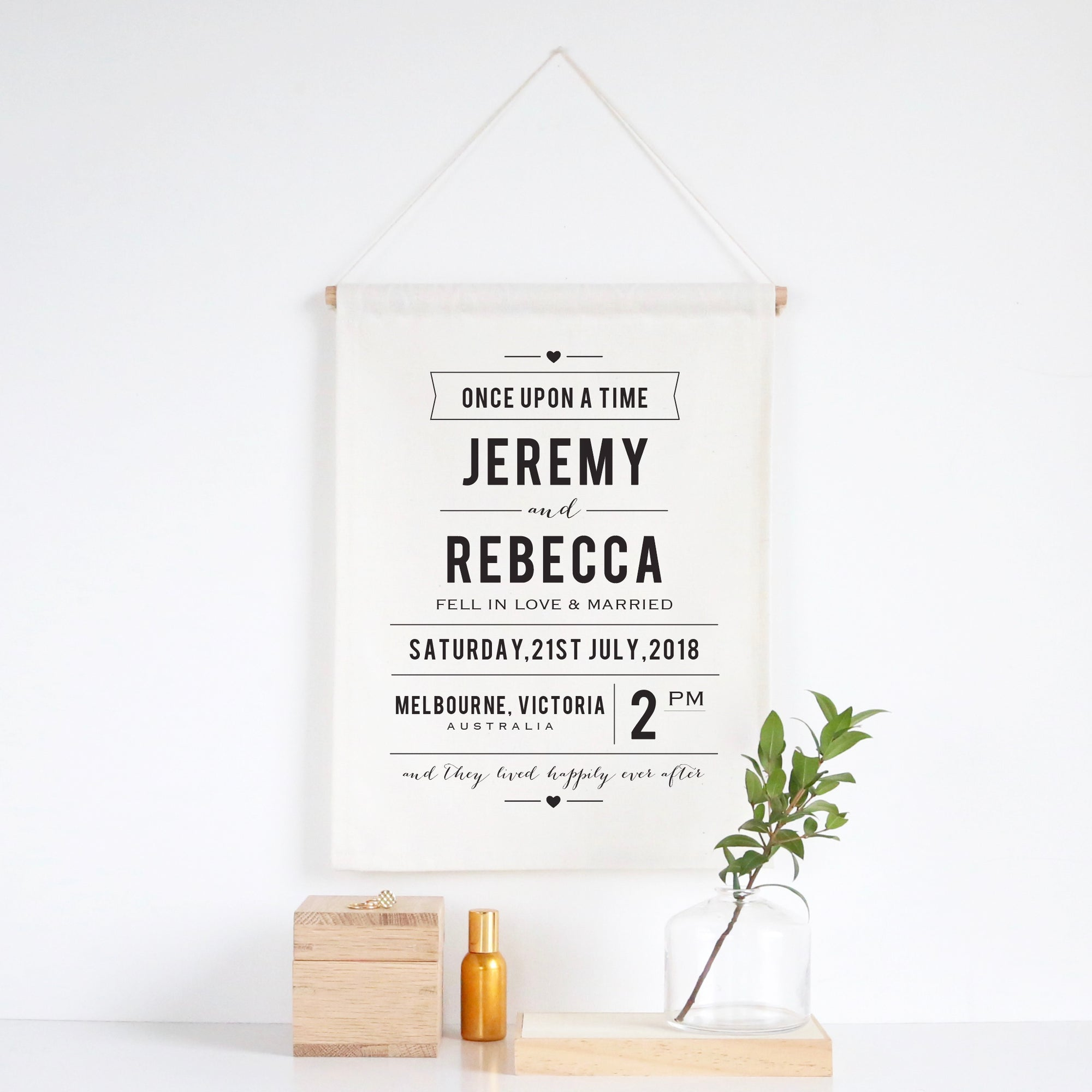Once Upon A Time Wedding Wall Banner