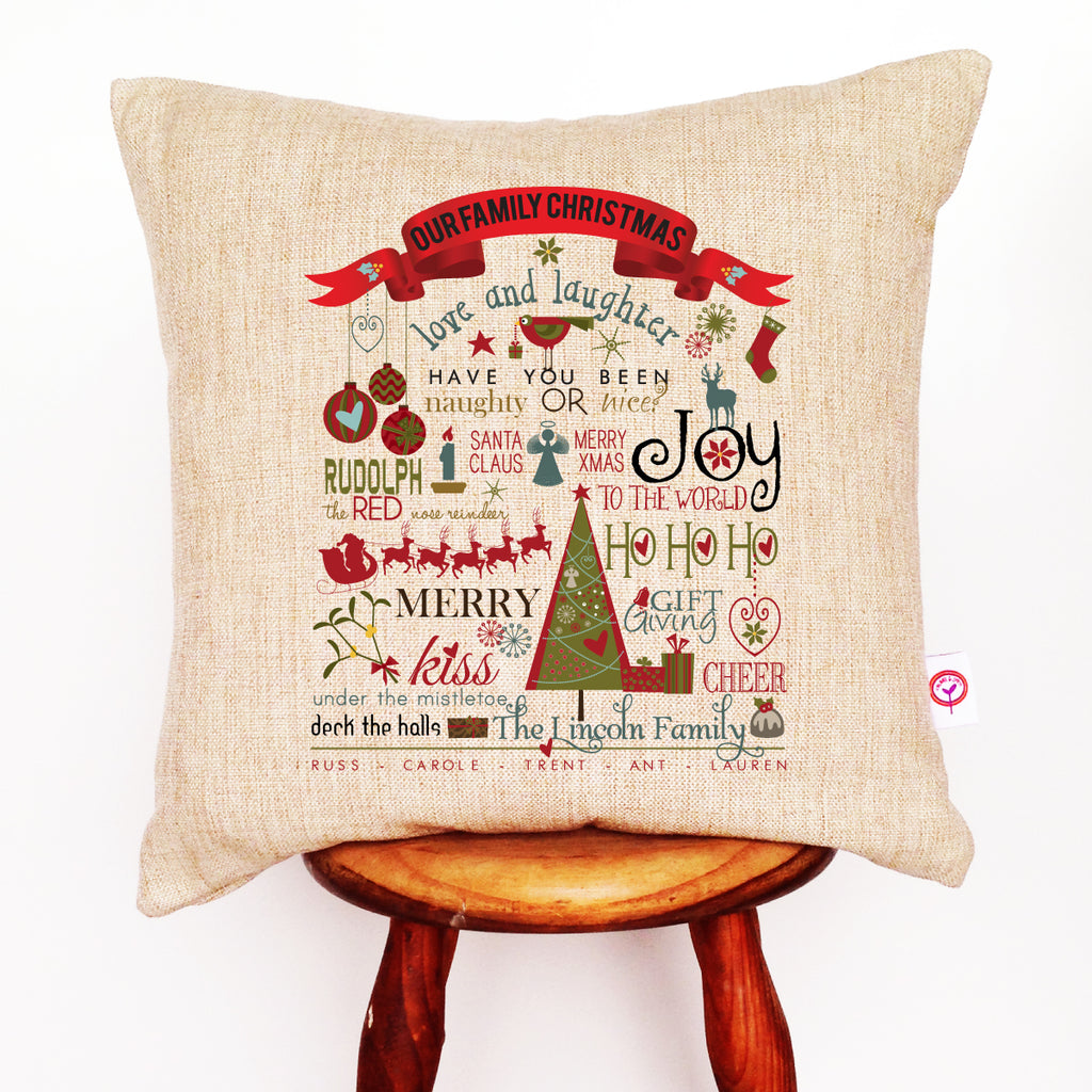 Our Family Christmas Cushion Cover