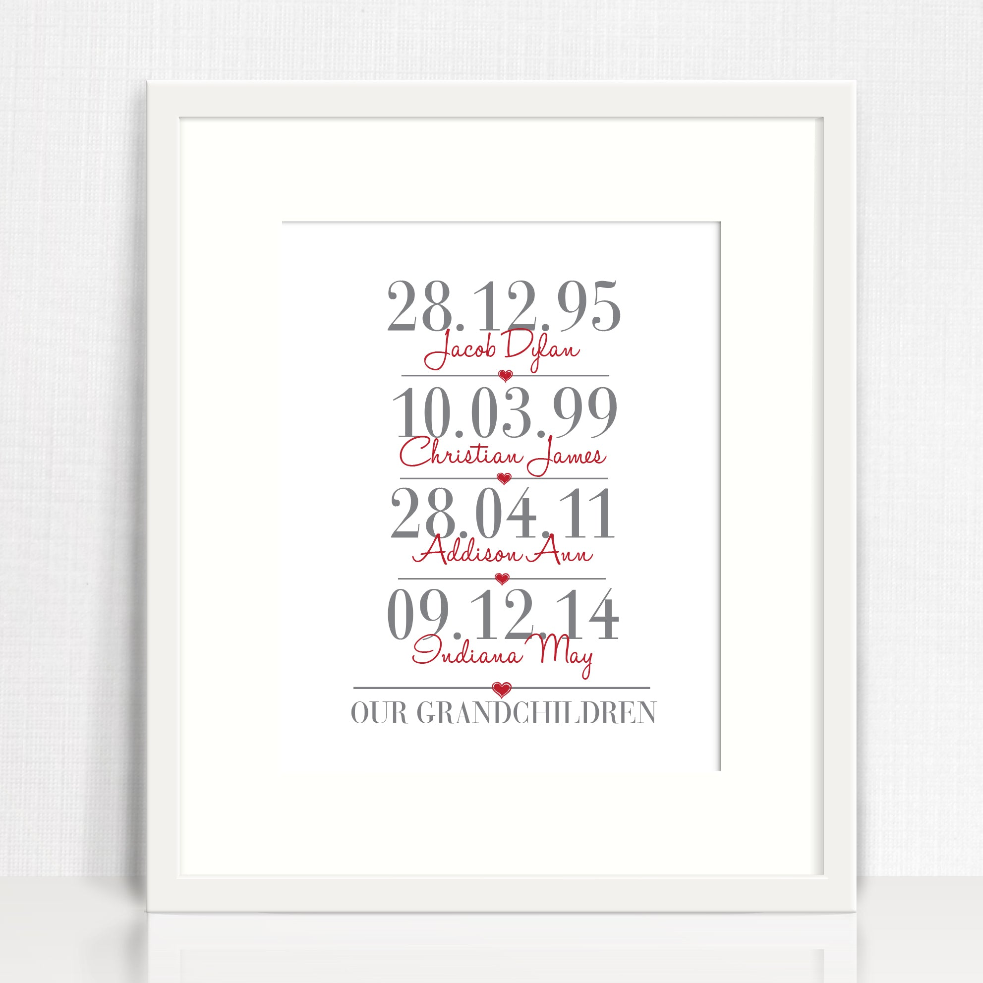 Grandchildren Personalised Print