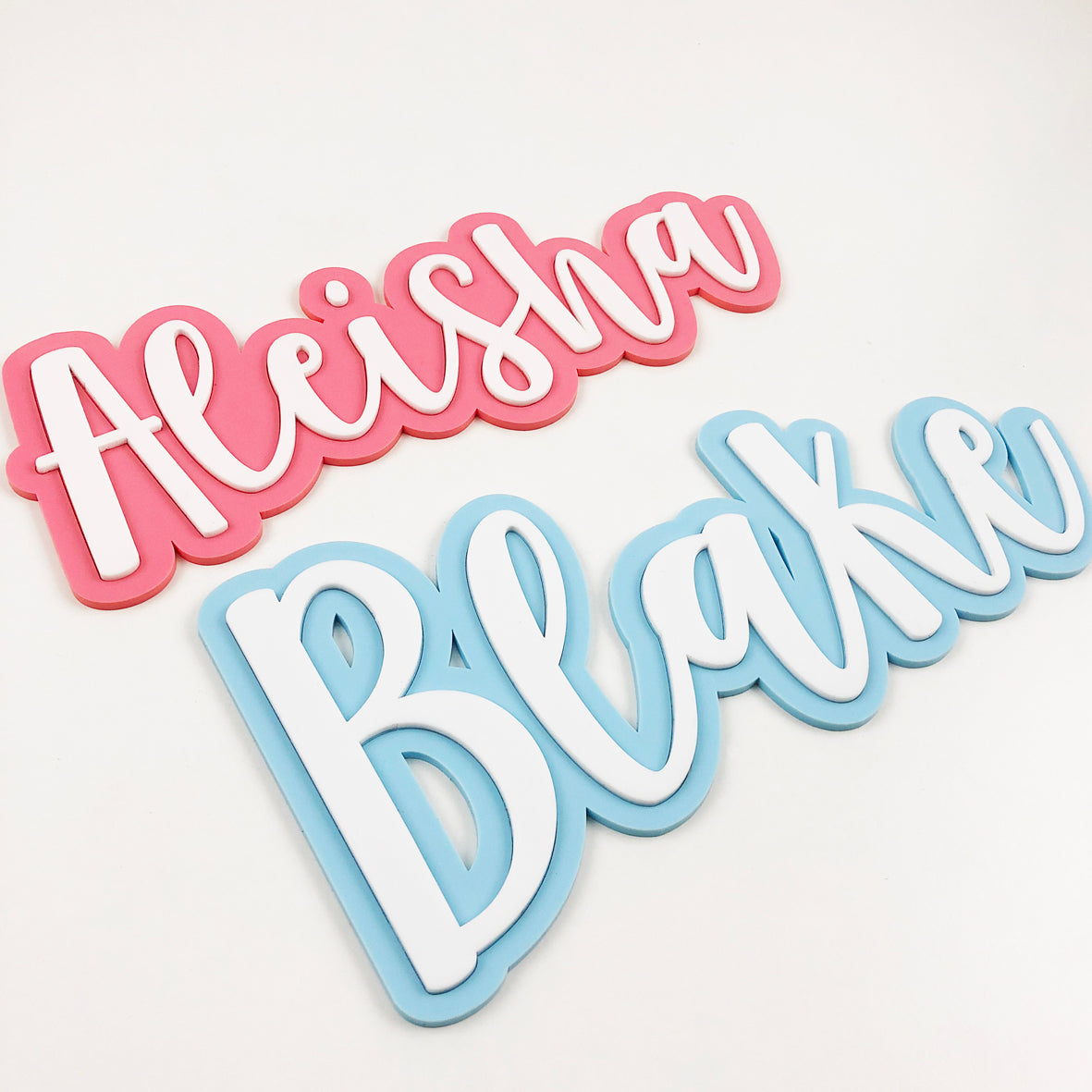 3D Pastel Name Plaques (2 sizes)