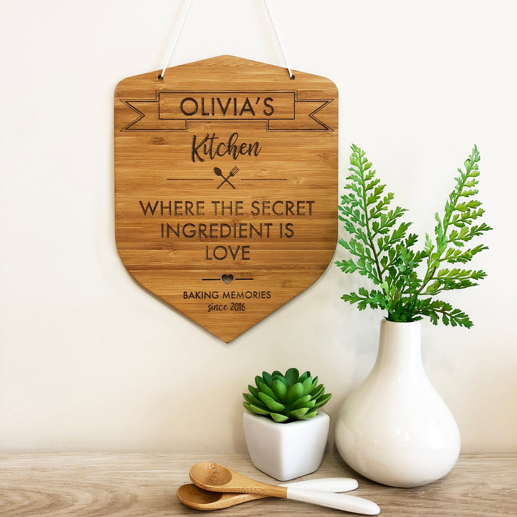 Personalised Kitchen Wall Hanging