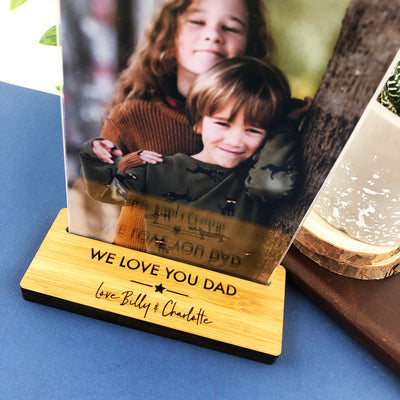 Personalised Star Bamboo Photo Stand