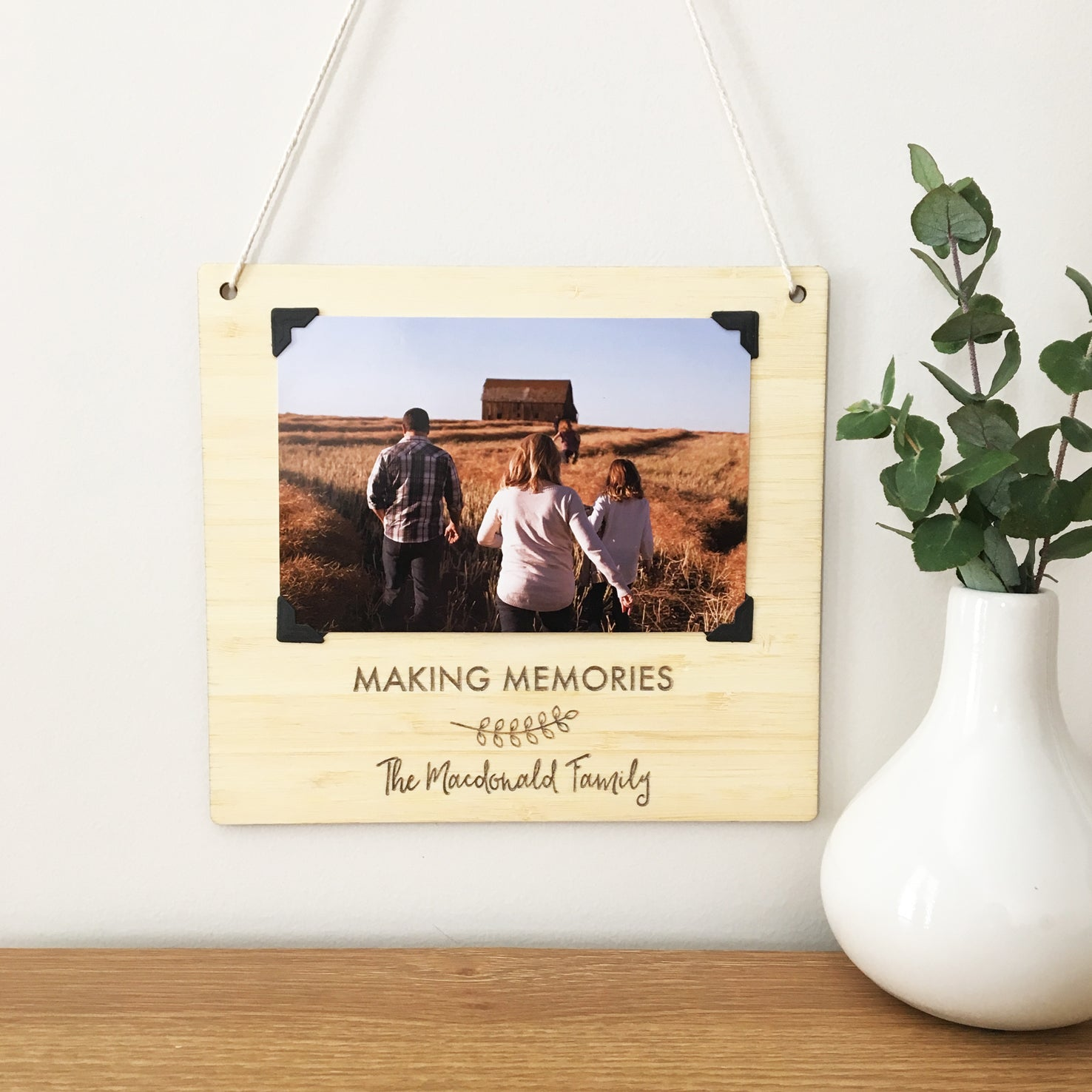 Personalised Landscape Photo Wall Hanging