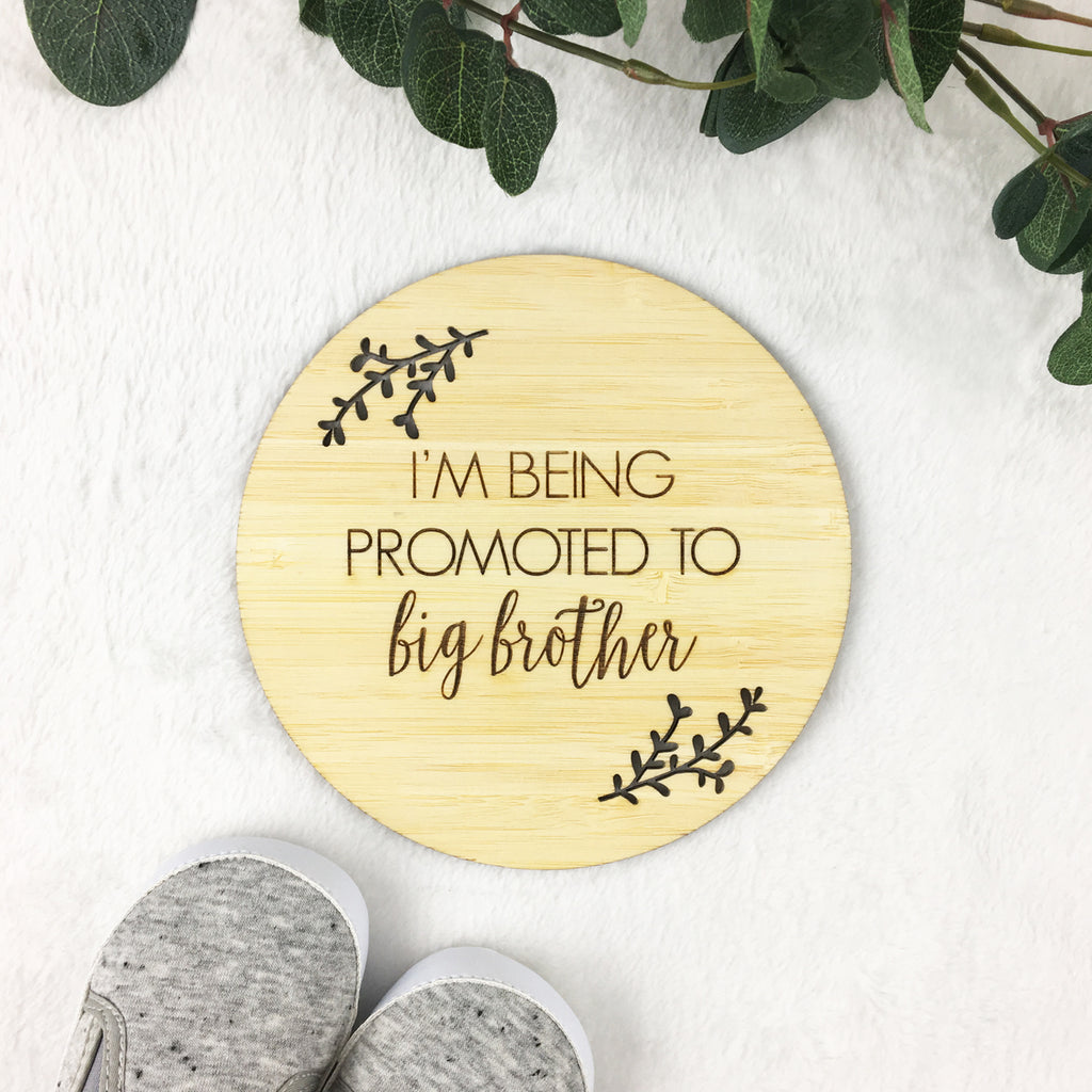Being Promoted to Big Brother Bamboo Plaque
