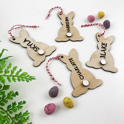Easter Bunny Tail Name Decorations
