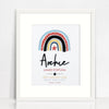 Acrylic (Black) Boys Rainbow Birth Print