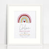 Mirror (Silver) Girls Rainbow Birth Print