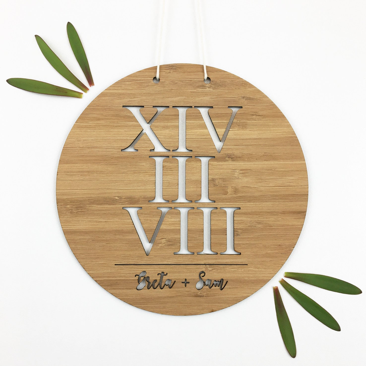 Roman Numerals Lovers Wall Hanging