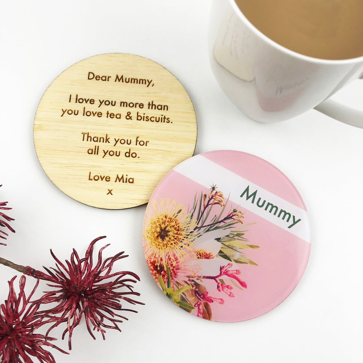 Double Sided Native Personalised Drink Coaster