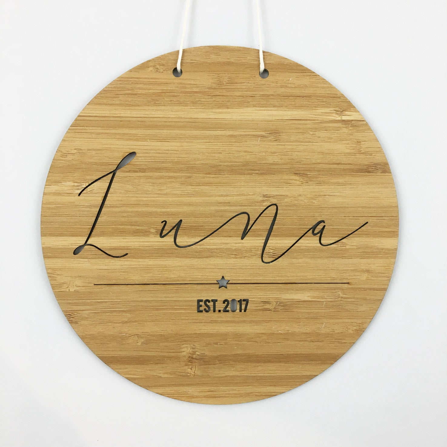 Round Name Wall Hanging - boys
