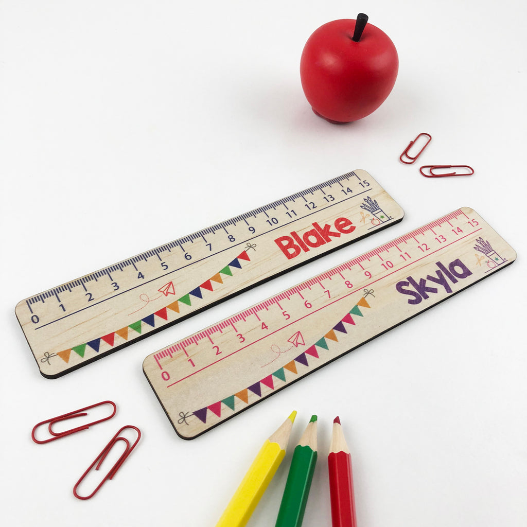 Personalised Bunting Ruler - Girls