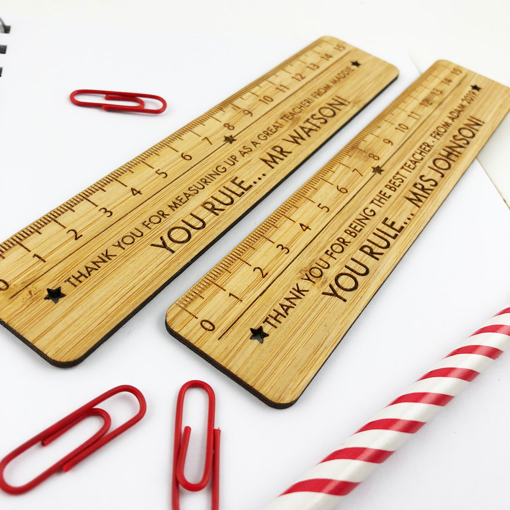 Personalised Bamboo Ruler