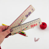 Personalised Bunting Ruler - Boys