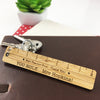 Ruler Personalised Bamboo Keyring
