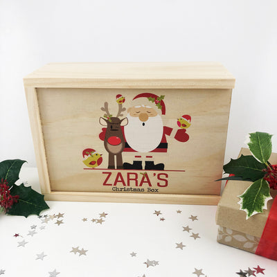Personalised Santa & Friends Christmas Box
