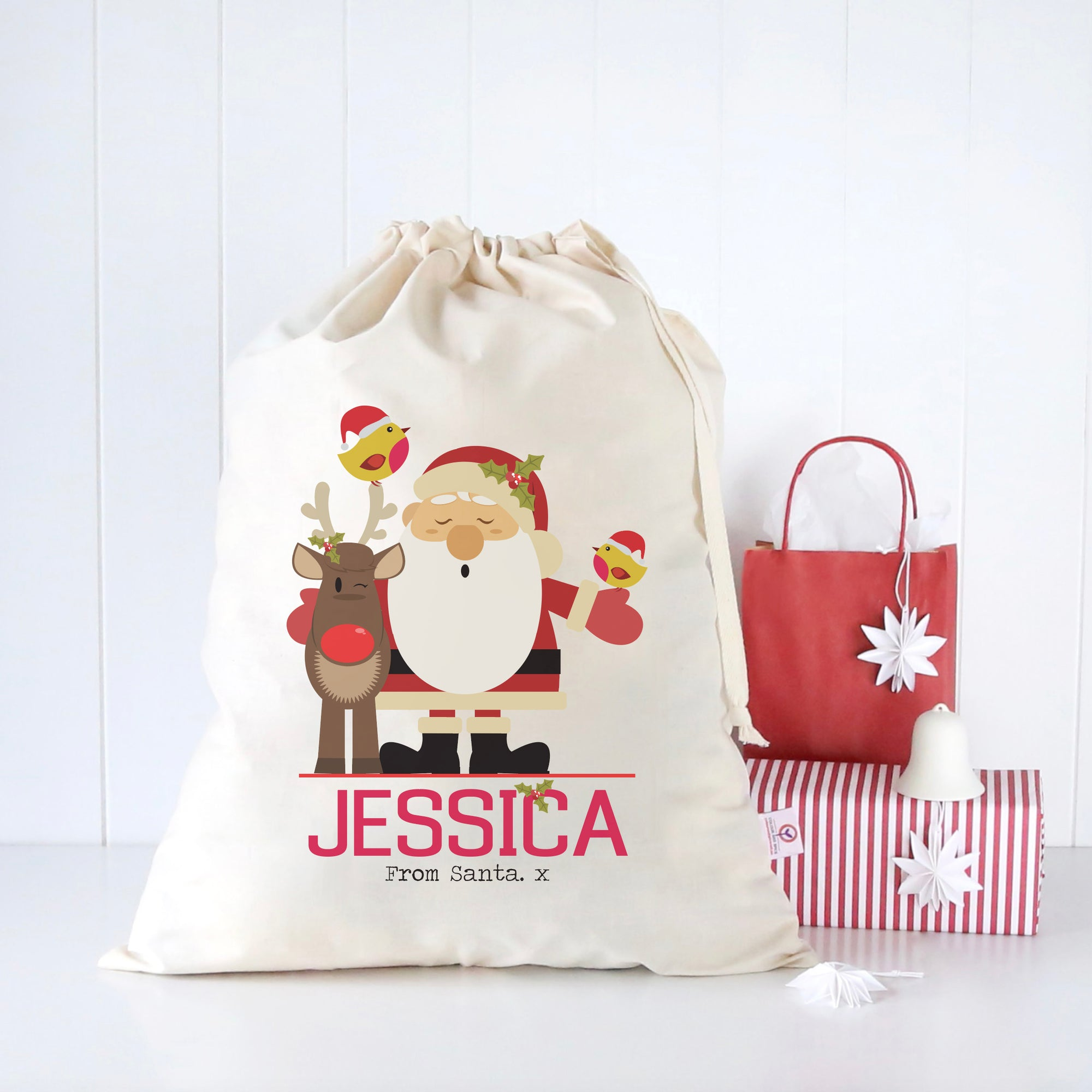 Santa and Friends Santa Sack