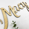Cursive Name Plaque (with cut outs)