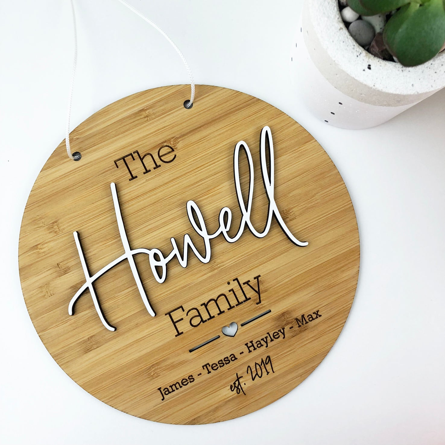 Script 3D Family Wall Hanging