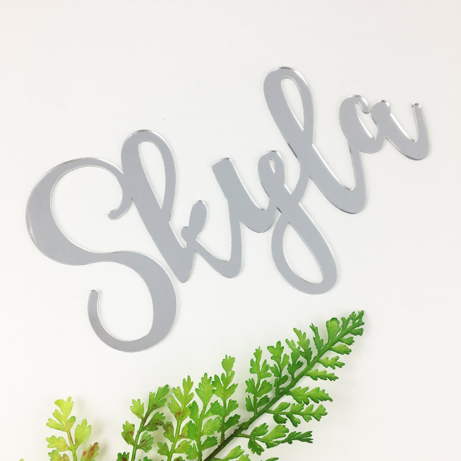 Personalised Acrylic Script Names (various colours)