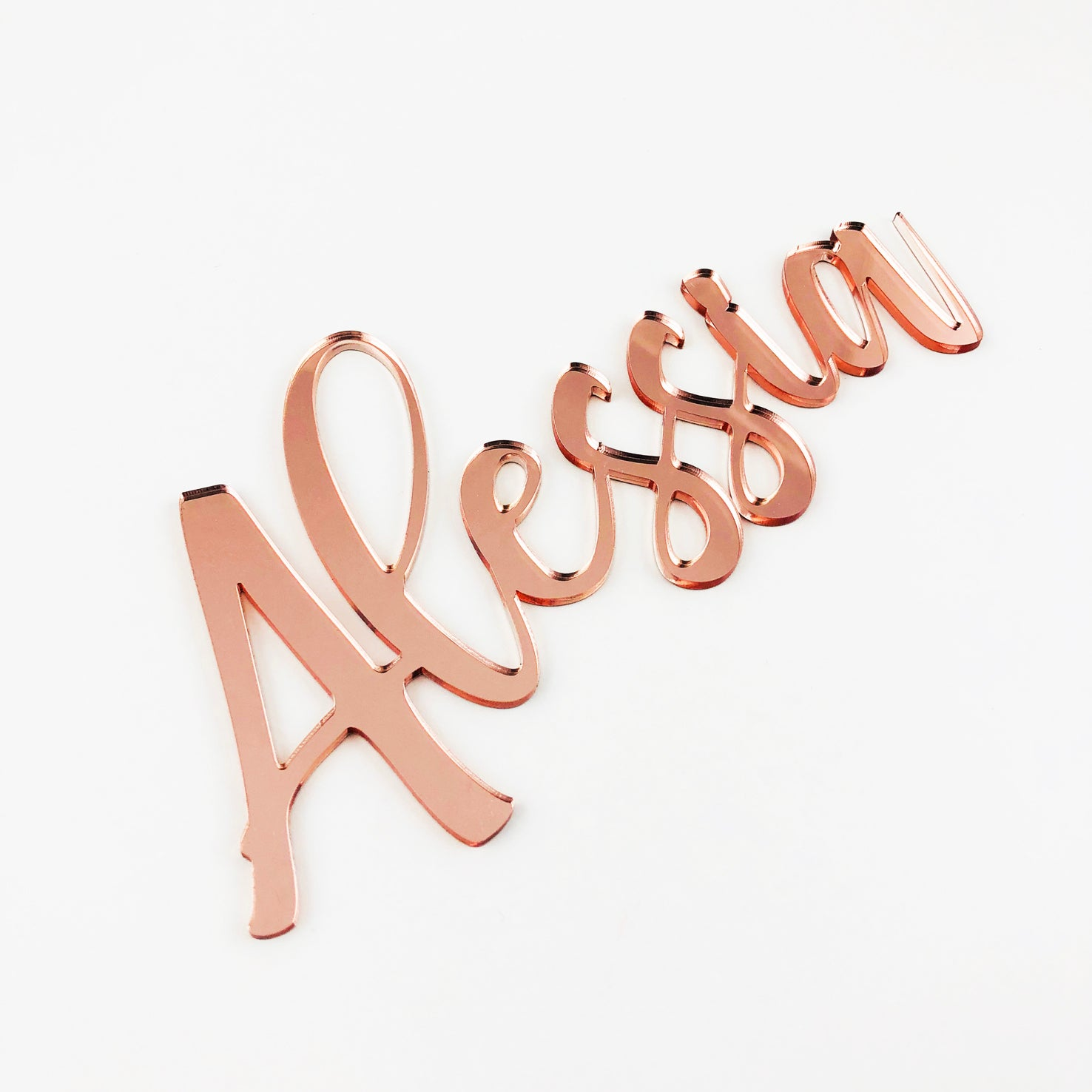 Personalised Handwritten Script Acrylic Names (various colours)