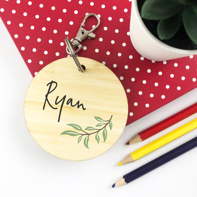 Simple Vine Personalised Bag Tag