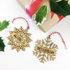 Simple Snowflake Name Bamboo Ornament
