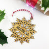 Delicate Snowflake Name Bamboo Ornament