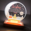 Family Christmas Snow Globe Night Light