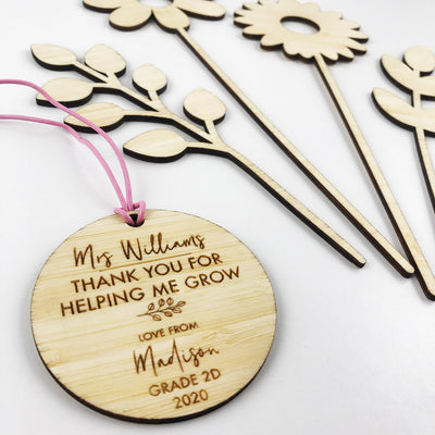 Teacher Flowers And Personalised Tag