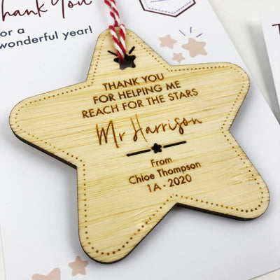 Reaching For The Stars Teacher Ornament