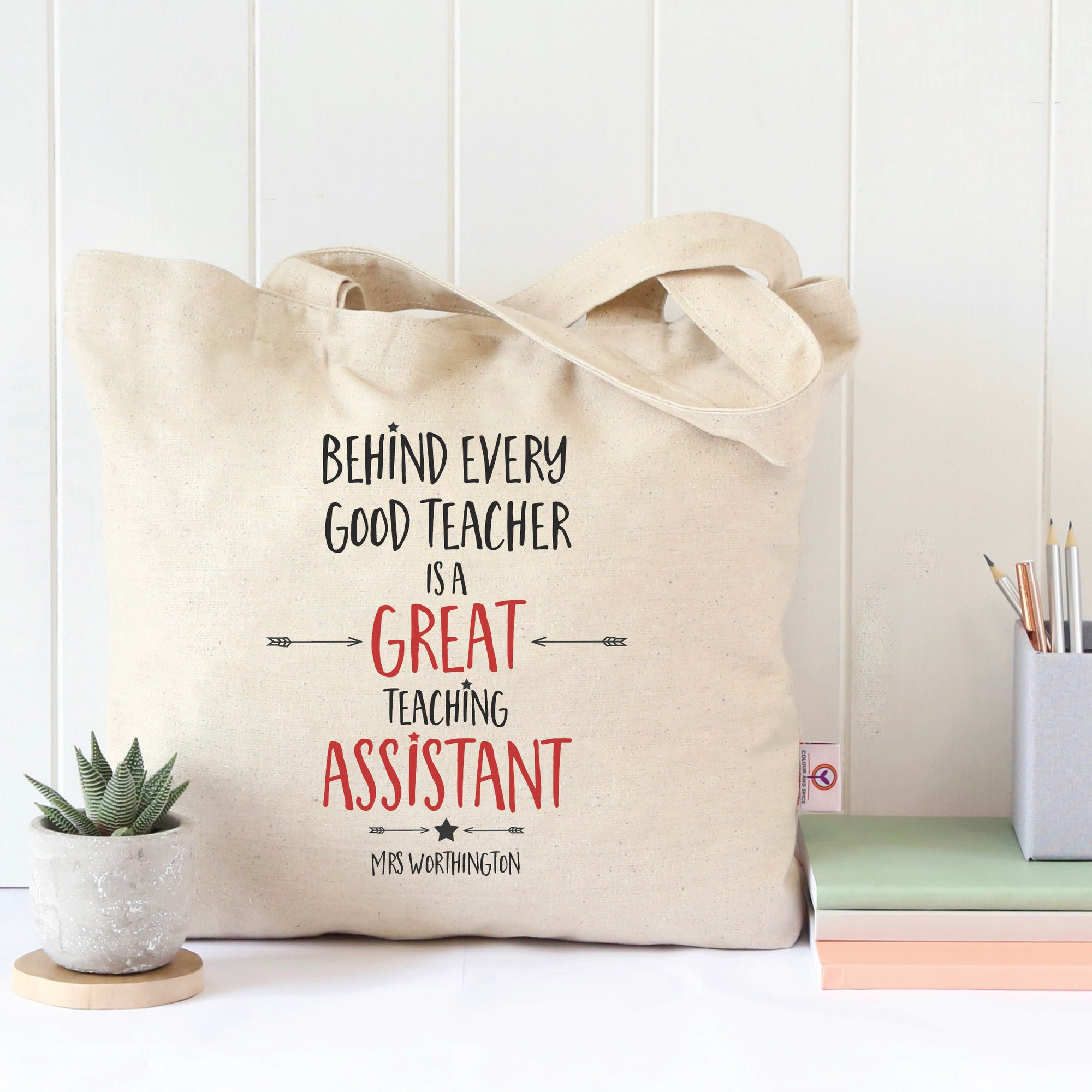 Teaching Assistant Teacher's Tote Bag
