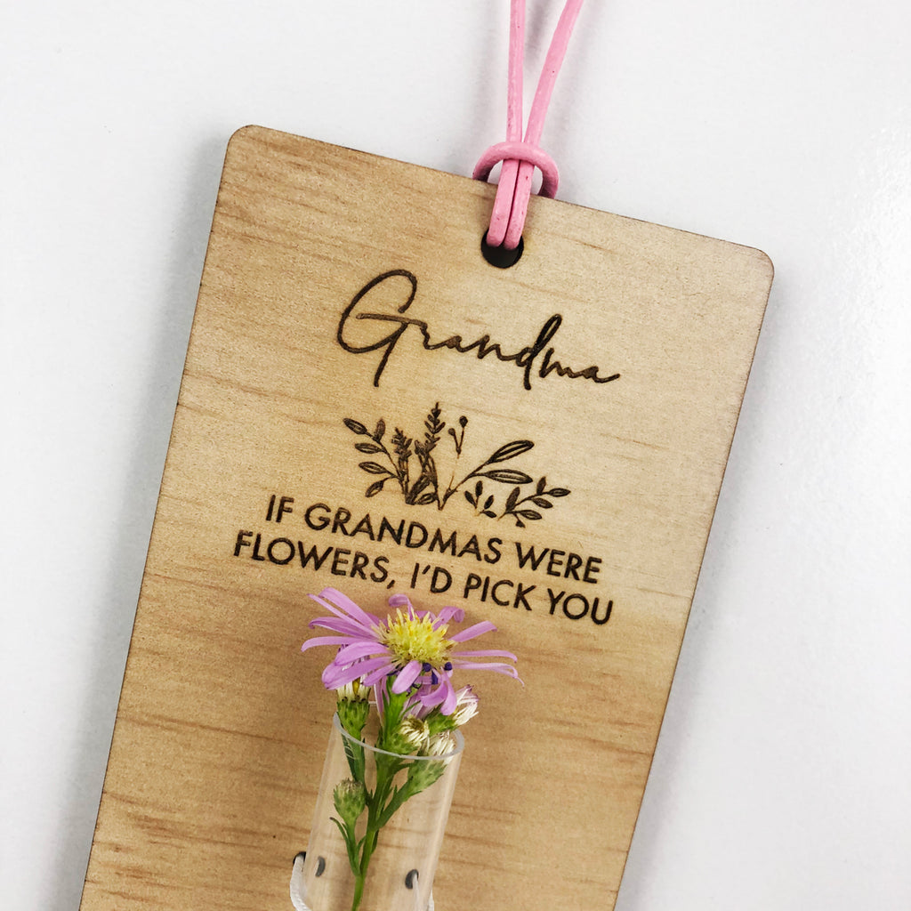 Personalised Mother's Day Test Tube Flower Holder