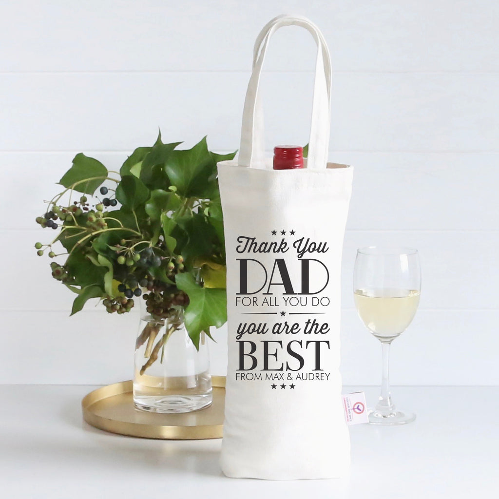 Thank You Dad Wine Bag