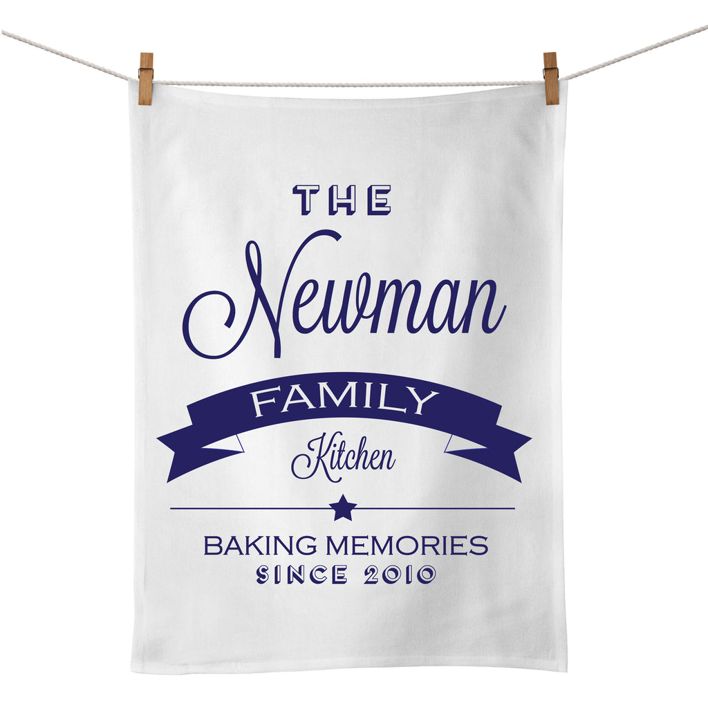 The Family Kitchen Tea Towel (navy)