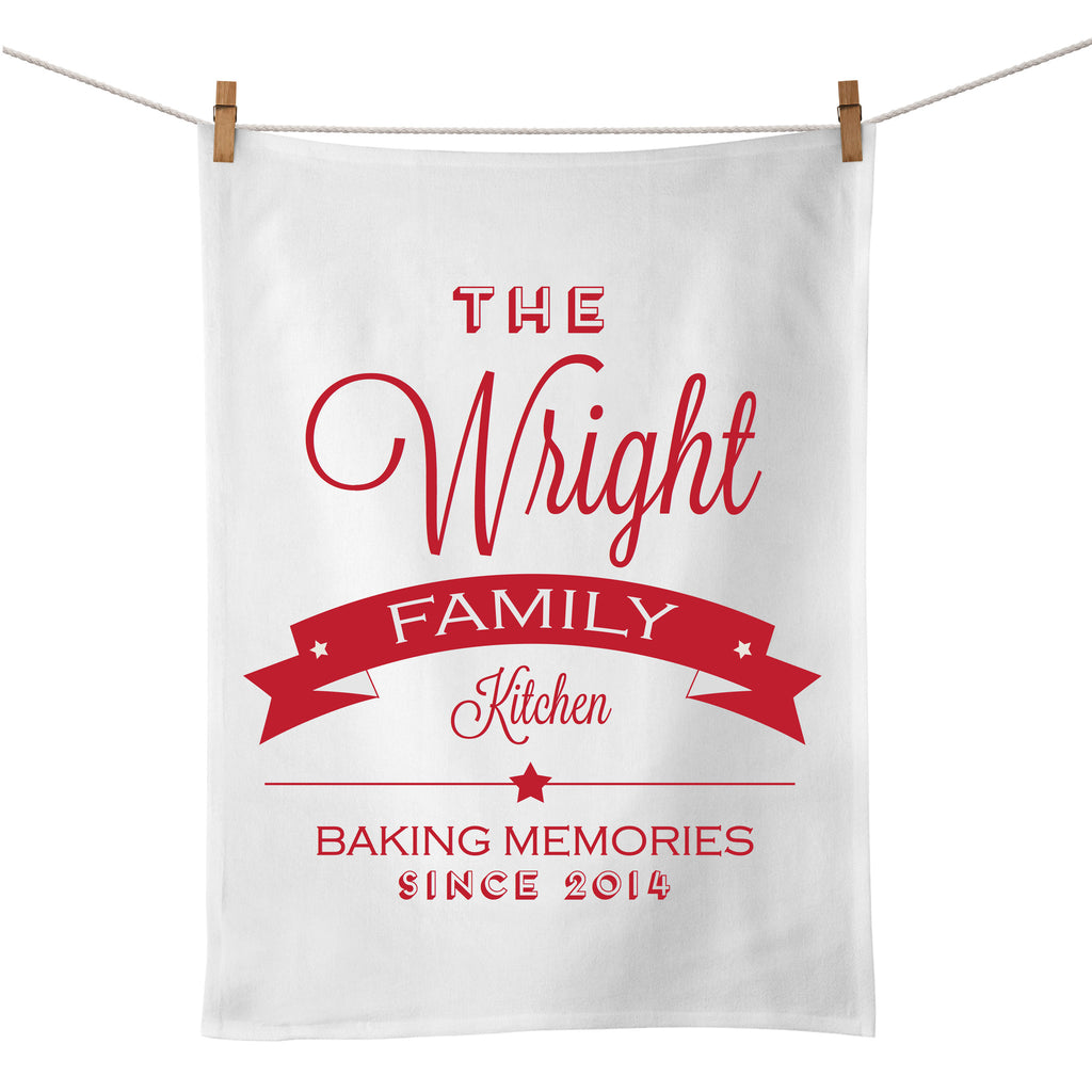 The Family Kitchen Tea Towel (red)