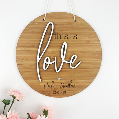 This Is Love 3D Wall Hanging