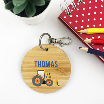 Tractor Personalised Bag Tag